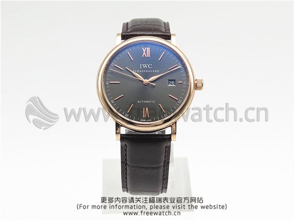 MKS厂万国柏涛菲诺玫瑰金灰盘IW356511