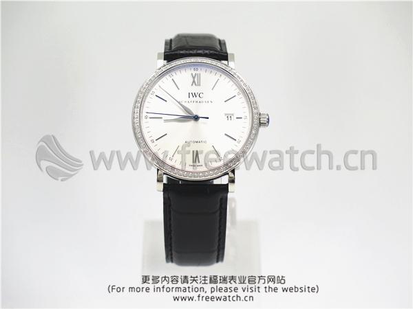 MKS厂万国柏涛菲诺玫白盘镶钻IW356514