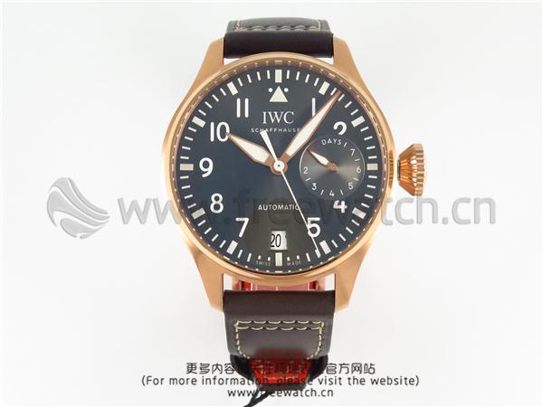 ZF厂万国飞行员大飞玫瑰金灰盘IW500917