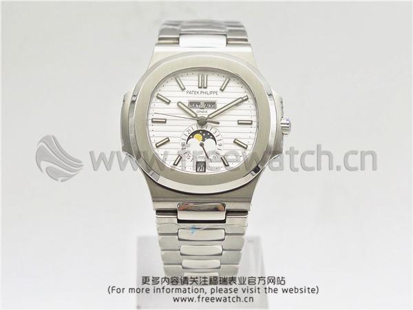 KM厂V2百达翡丽鹦鹉螺5726/1A白盘钢带款