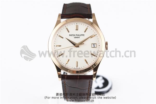 ZF厂百达翡丽古典5296R010玫瑰金白盘