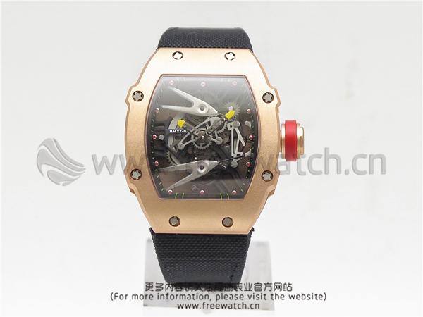 RM厂理查德米勒RM27-02碳纤维玫瑰金