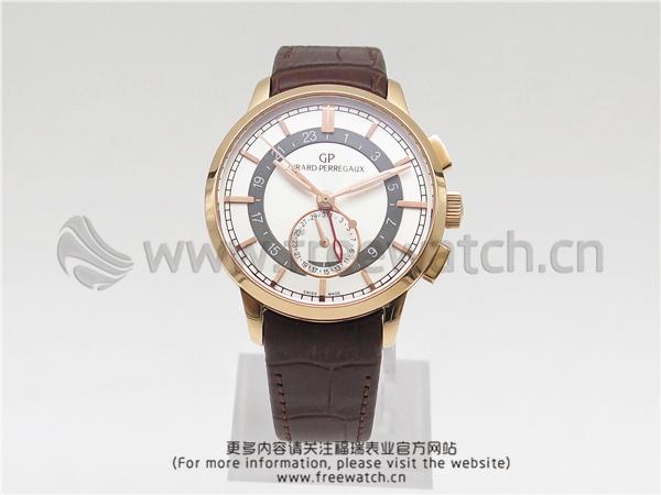 TF厂芝柏1966系列GMT玫瑰金白盘
